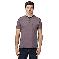 Ben Sherman - Big and tall purple striped t-shirt