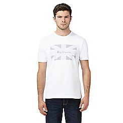 Ben Sherman - Big and tall white flag print t-shirt
