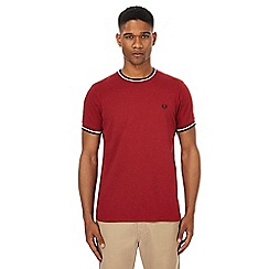 Fred Perry - Red tipped t-shirt