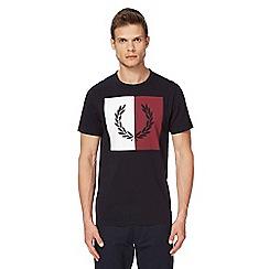 Fred Perry - Navy logo print t-shirt