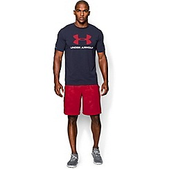 Under Armour - Navy 'Charged Cotton®' sportstyle logo t-shirt