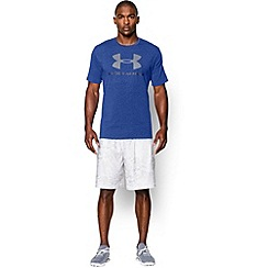 Under Armour - Blue 'Charged Cotton®' sportstyle logo t-shirt