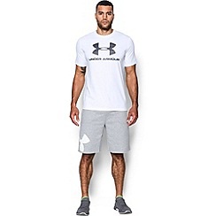 Under Armour - White 'Charged Cotton®' sportstyle logo t-shirt