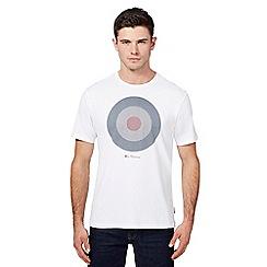 Ben Sherman - Big and tall white target print t-shirt