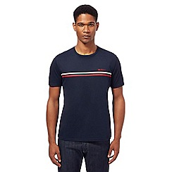 Ben Sherman - Big and tall navy stripe print t-shirt
