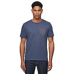 Ben Sherman - Big and tall dark blue arrow print chest pocket t-shirt