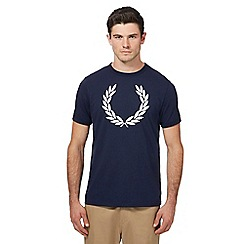 Fred Perry - Blue logo print t-shirt