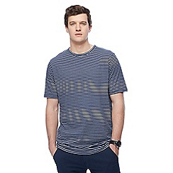 Jacamo - Navy striped long length t-shirt