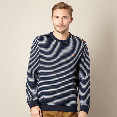 Farah 1920 - Navy horizontal striped jumper
