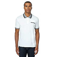 Ben Sherman - White textured polo shirt