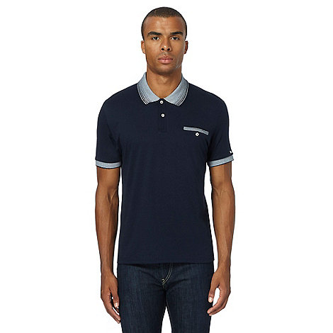 Fred Perry - Navy button through shawl neck cardigan