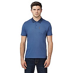 Ben Sherman - Blue textured polo shirt