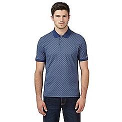 Ben Sherman - Big and tall blue checked polo shirt