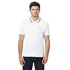 Ben Sherman - Big and tall white spotted tipped polo shirt