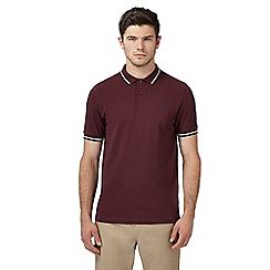 Fred Perry - Dark red tipped polo shirt