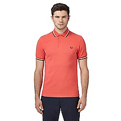 Fred Perry - Pink twin tipped slim polo shirt