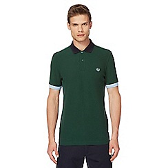 Fred Perry - Blue pique polo shirt