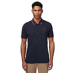 Ben Sherman - Navy tipped polo shirt