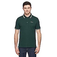 Ben Sherman - Green embroidered logo tipped polo shirt