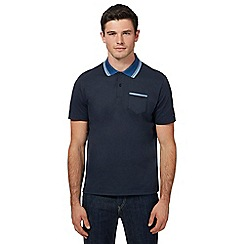 Ben Sherman - Big and tall navy tipped oxford collar polo shirt
