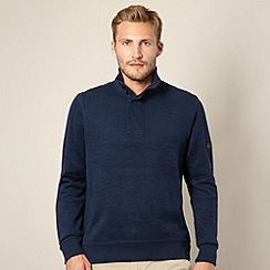 Ben Sherman - Big and tall navy funnel neck sweat top