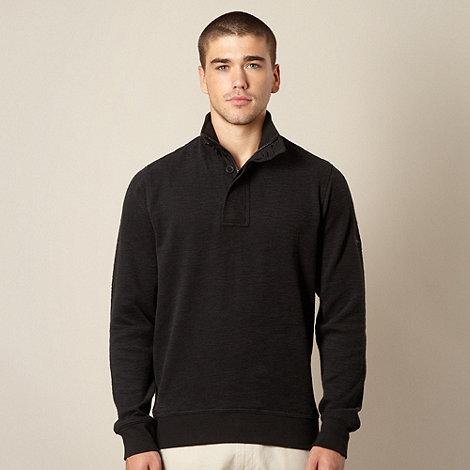 Ben Sherman - Big and tall black textured funnel neck sweatshirt