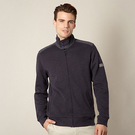 Ben Sherman - Dark grey zip through sweater