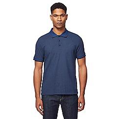Ben Sherman - Big and tall navy arrow print polo shirt