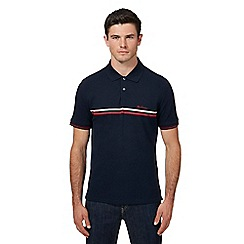 Ben Sherman - Navy striped polo shirt