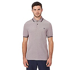 Fred Perry - Dark red Oxford polo shirt