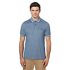 Fred Perry - Blue tipped Oxford polo shirt