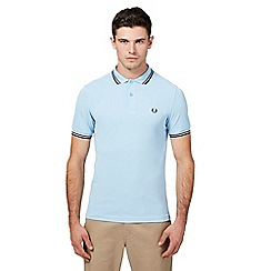 Fred Perry - Pale blue tipped polo shirt