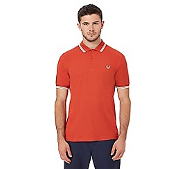 Fred Perry - Orange embroidered logo polo shirt