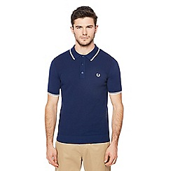 Fred Perry - Blue knitted polo shirt