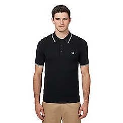 Fred Perry - Black knitted polo shirt
