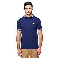Fred Perry - Blue tramline tipped polo shirt