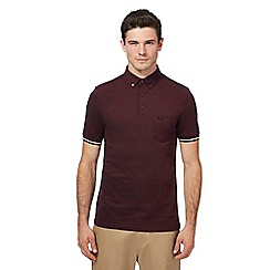 Fred Perry - Maroon Oxford pique polo shirt