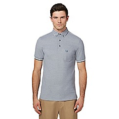 Fred Perry - Dark grey Oxford pique polo shirt