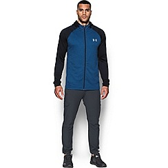 Under Armour - Blue terry 'Tech ' fitted long sleeve hooded top