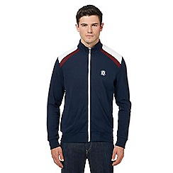Ben Sherman - Big and tall navy zip through track jacket