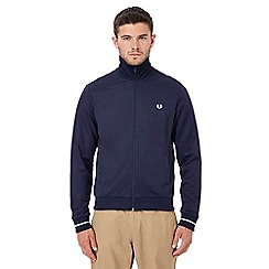 Fred Perry - Navy embroidered logo jacket