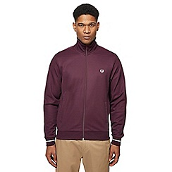 Fred Perry - Dark red embroidered logo jacket