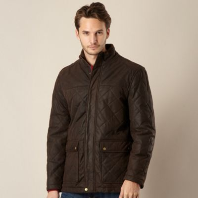 Barney Brown uede leather quilted jacket - . -