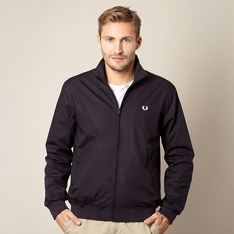 Fred Perry - Navy fleece lined jacket