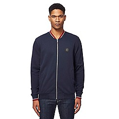 Ben Sherman - Big and tall navy zip through baseball jacket