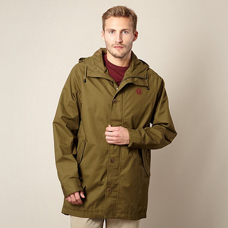 Fred Perry - Dark olive lightweight parka jacket