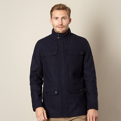 Ben Sherman - Big and tall navy wool blend jacket