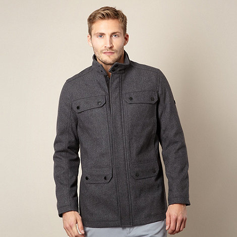 Ben Sherman - Big and tall dark grey four pocket jacket