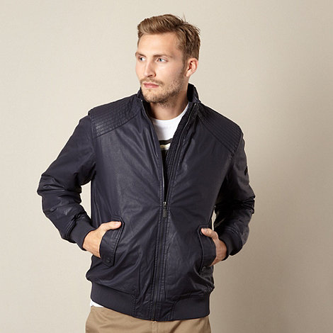 Ben Sherman - Navy coated bomber jacket