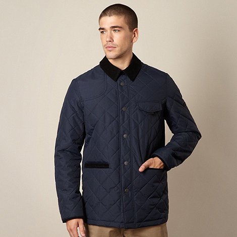 Ben Sherman - Big and tall navy quilted jacket